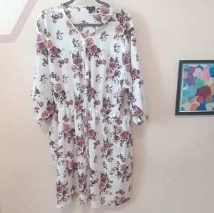 Rue 21 Floral Dress With Zipper Front